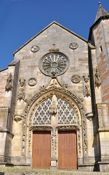 Main entrance in the western façade of the 15th century Our Lady (Notre Dame) church in Villers-en-Argonne (canton Sainte-Menehould, Marne department, Champagne-Ardenne region, France).