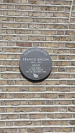 Photo of Francis Bacon brown plaque