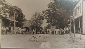 Francisco, Indiana - Early days on Main St.
