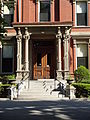 Franco American School, front entrance; Lowell, MA; 2012-05-19.JPG