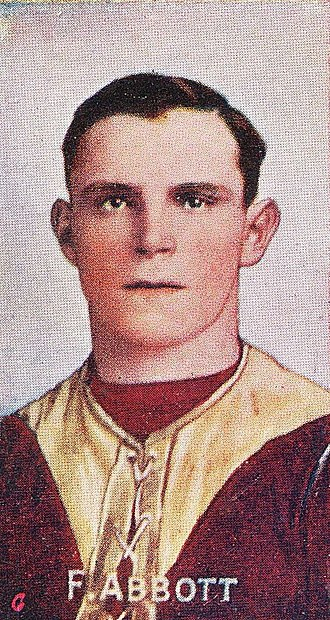 Frank Abbott (footballer) - Cigarette card of Abbott in 1908