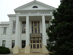 Franklin Countys domstolshus i Rocky Mount.