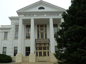 Franklin County, Virginia - Image: Franklin County Courthouse Rocky Mount Virginia