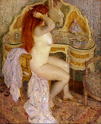 FRIESEKE Frederick Carl Nude Seated At Her Dressing Table 1909