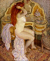 Frederick Carl Frieseke - Nude Seated at Her Dressing Table - Google Art Project.jpg