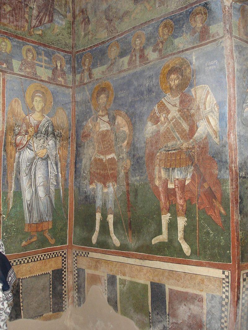 Η τοιχογραφία του Αγίου  Andrew σε Matka 100.jpg