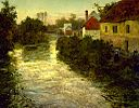 Frits Thaulow - Village on the Bank of a Stream - Walters 37175.jpg