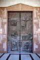 Front door of the church, depicting major events in Jesus' life- (37316493185).jpg