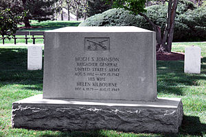 Hugh S. Johnson - Grave of Hugh S. Johnson in Arlington National Cemetery.