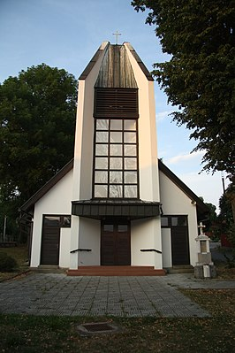 Front view of Church of Saint Zdislava of Lemberk in Lavičky, Žďár nad Sázavou District.JPG