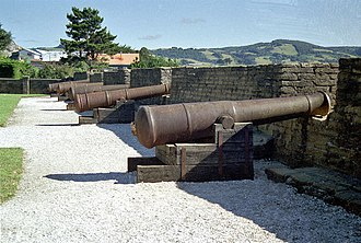 Ancud - View of the battery of San Antonio.