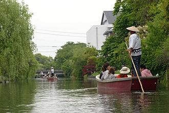 Fukuoka Prefecture - A sightseeing boat in Yanagawa Canal