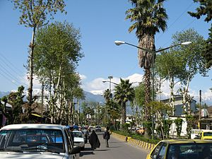 Fuman, Iran - A street in Fuman, Gilan.