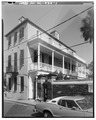 GENERAL VIEW, SOUTHWEST CORNER - 38 Church Street (House), Charleston, Charleston County, SC HABS SC,10-CHAR,245-1.tif