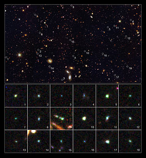 Great Observatories Origins Deep Survey - Image: GOODS South Field
