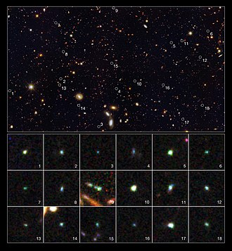 Great Observatories Origins Deep Survey - Image: GOODS South Field