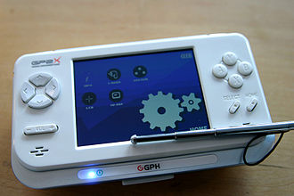 """GP2X - The new model """"F200"""" with touchscreen stylus"""