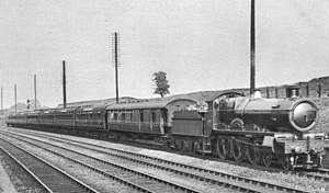 Cornish Riviera Express - 4038 ''Queen Berengaria'' near Acton with a London bound Cornish Riviera Express