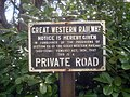 GWR sign at the entrance to Fencote Station - geograph.org.uk - 1512719.jpg
