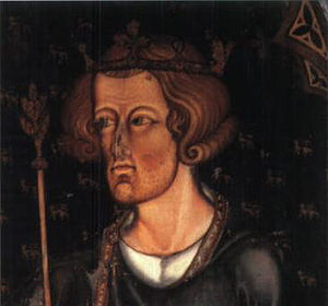 Castles and Town Walls of King Edward in Gwynedd - Portrait in Westminster Abbey, thought to be of Edward I