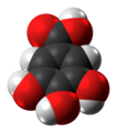 Gallic acid molecule spacefill from xtal.png