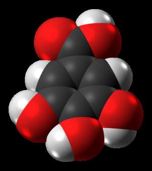 Gallic acid - Image: Gallic acid molecule spacefill from xtal