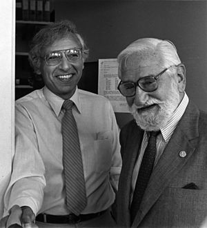 Albert Sabin - Sabin (right) with Robert C. Gallo, M.D., circa 1985