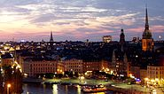 GamlaStan from Katarinahissen Stockholm Swe new