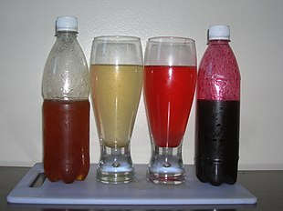 Garcinia indica yellow and red syrups and drinks.jpg