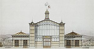 Gare du Champ de Mars - The station's main building by Juste Lisch.