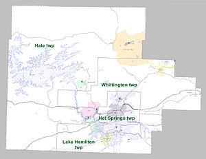 Garland County, Arkansas - Townships in Garland County, Arkansas as of 2010