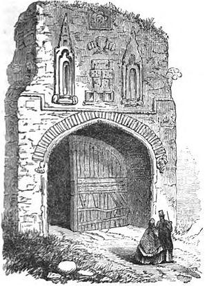 Walsingham Priory - Image: Gateway of Walsingham Priory (Robert Chambers, p.177, 1832) Copy