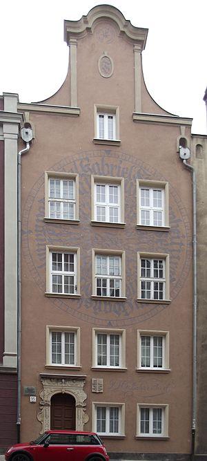 Daniel Gabriel Fahrenheit - Fahrenheit's birthplace in Gdańsk (Danzig)