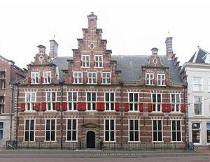 Hoogheemraadschap van Rijnland - Gemeenlandshuis of the Hoogheemraadschap van Rijnland on the Breestraat in Leiden
