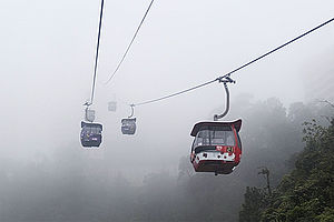 Genting Skyway - Cabin view from upper station.