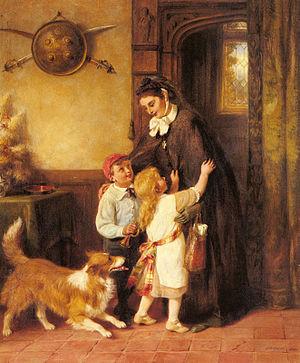 George Bernard O'Neill - A Joyful Welcome (1901)