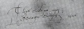 George Boleyn, 2nd Viscount Rochford - George Boleyn's signature