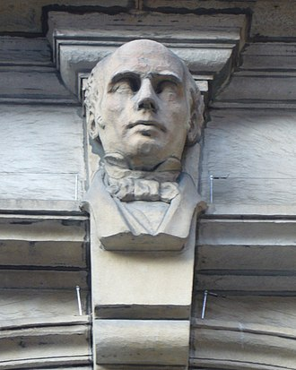 George Combe - Sculpted portrait of Combe on the Museum of the Edinburgh Phrenological Society building in Edinburgh