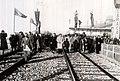 Gh. Gheorghiu–Dej, după inaugurarea viaductului de la Caracău, vizitează şantierul. (10.11.1946).jpg