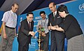 Ghulam Nabi Azad inaugurated the 29th Meeting of the Ministers of Health (HMM) and 64th session of the WHO Regional Committee for South-East Asia, in Jaipur. The DG (WHO), Dr. Margaret Chan is also seen.jpg