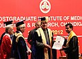 Ghulam Nabi Azad presenting the degrees, at the 32nd Convocation of the Post Graduate Institute of Medical Sciences and Research (PGIMER), in Chandigarh on April 28, 2012 (1).jpg