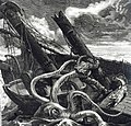 Giant octopus attacking a shipwrecked sailor.jpg