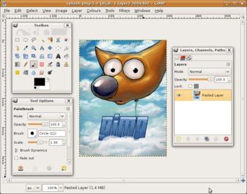 English: Screenshot ilustrating the utility wi...