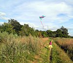 Girl Flying A Kite In The Coutryside.jpg