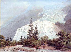 Bossons Glacier - Bossons Glacier in 1830