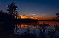 Glow of sunset on the Waskesiu Lake in Prince Albert National Park Saskatchewan, Canada.jpg