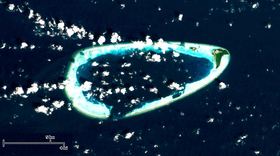 Photo satellitaire de l'attol Goidhoo