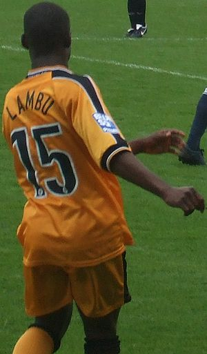 Goma Lambu - Lambu playing for Woking in 2008