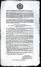 Gotthardstrasse Beschluss 1818