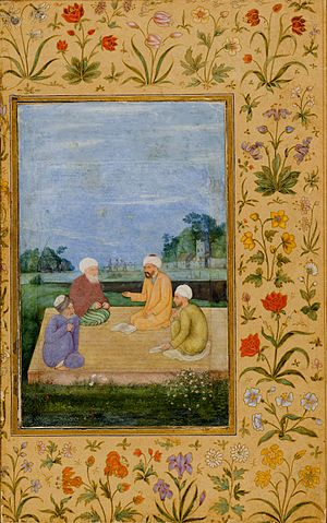 Wali - An Indian miniature of A Discourse between Muslim Sages (ca. 1630), thought to be executed by the court painter Govārdhan